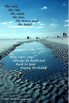 Birthday Beach Wishes By The Sand Photographic Greeting Cards