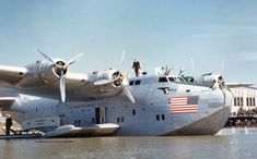 PanAm Clipper.  Those elegant flying boats of the late 1930s