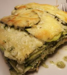 Courgette-broccoli-zalm lasagne