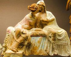 Terracotta group of two seated women, perhaps Demeter and Persephone. Myrina c. 100 BC. British Museum, London.
