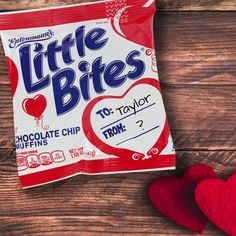 Parent Hack: Little Bites muffins make great classroom-approved Valentines. Find this special packaging near you. http://littlebites.com