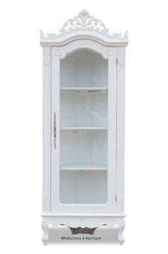 Helene French Corner Display Cabinet - White
