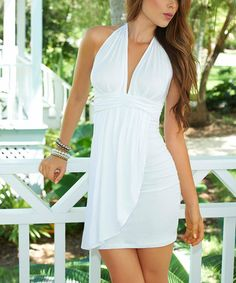 Take a look at this White Halter Dress on zulily today!