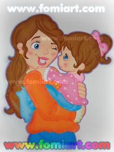 Fomiart: Día De Las Madres: Mamá Cargando Su Hija/Fomiart