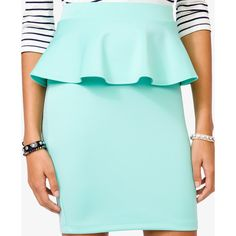 FOREVER 21 Peplum Pencil Skirt ($13) ❤ liked on Polyvore