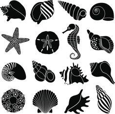 nautilus shell stencil - Google Search