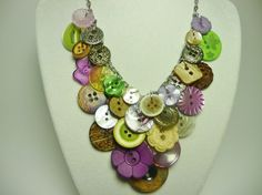 Pretty button necklace.