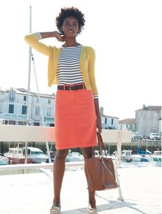 Bright colours and stripes.