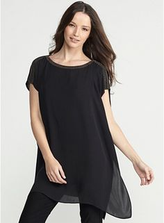 Eileen Fisher  Love this top-it is soooo comfortable and forgiving.