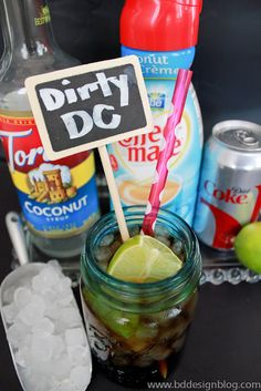 To all my fellow diet coke drinkers....Here's how to make a dirty diet coke! You will thank me later :) www.bddesignblog.com #dirtydietcoke #dietcoke #cocunut