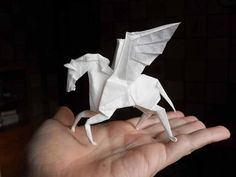 Origami caballito, como hacer caballo de origami? - YouTube