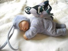 anne geddes sleeping baby doll toy decoration nursery butterfly purple  toy for sale in my store the chic n prim cottage $20