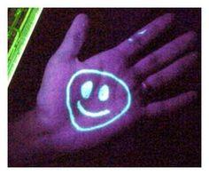 Straight up Vaseline (petroleum jelly) also glows under black light!