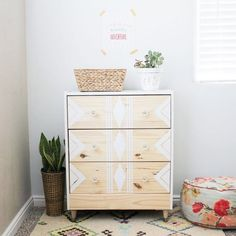 Transform a simple dresser into a statment piece using these easy tips!