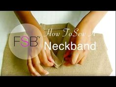 Sewing Facing to Curved Necklines - YouTube