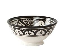 Bowl with black / white pattern - Black White Pattern, White Patterns, Black And White, Ceramic Bowls, Decorative Bowls, Tin, Carving, Pottery, Tableware