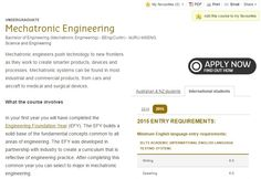 Mechatronic Engineering degree: Curtin University