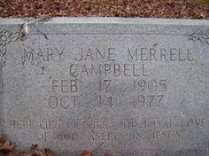 Mary Jane Merrell Campbell