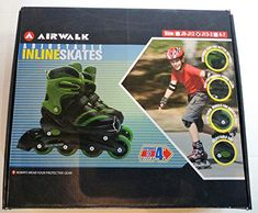 """Airwalk Adjustable Inline Skates for children. Model type is Escape. Black/Green in color, size J13-3. Expands to size 4 sizes.       Famous Words of Inspiration...""""Perpetual optimism is a force multiplier.""""   Colin Powell — Click here for... more details available at https://perfect-gifts.bestselleroutlets.com/gifts-for-teens/skates-skateboards-scooters/product-review-for-airwalk-adjustable-inline-skates-for-kids-black-g"""