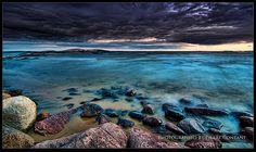 """""""The Calm Before The Storm"""" by Pierre Content. Sunset Beach, North Bay, Ontario. Photo taken on July 17, 2010"""