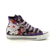 Converse All Star Hi Harley Quinn Athletic Shoe $60.00 -- I LOVE THESE SHOES. I want them. I want them. Hehehehe... (And I'm not a Converse fan or anything like that, either.)