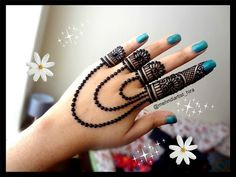 How to apply beautiful latest arabic khaleeji jewellery henna mehndi designs for hands eid,diwali - YouTube