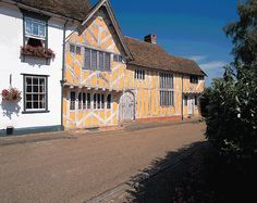 Lavenham, in Suffolk, is one of the best preserved medieval villages in England and was a thriving wool town in Tudor times