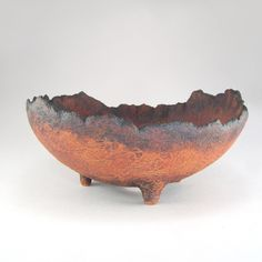 Rustic Succulent Pot, Footed Eggshell Planter, Red and Black Kusamono, Unglazed Plant Pot, Round Bonsai Planter, Wabi Sabi Bowl Pot 01-16-51 by WhistlingFishPottery on Etsy https://www.etsy.com/listing/476428021/rustic-succulent-pot-footed-eggshell