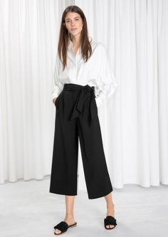 & Other Stories image 2 of Side Tie Culottes in Black