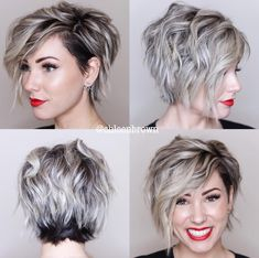 Asymmetrical pixie bob 360 view