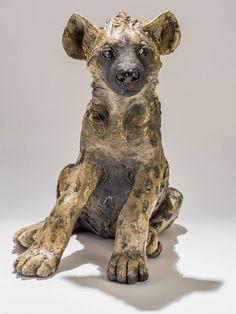 Hyena Sculpture - Nick Mackman Animal Sculpture