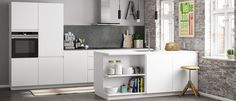 Cosy Linea kitchen from Kvik. Open shelfes connects the kitchen areas with your living space - enjoy :-)