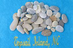 Sea Stones, Beach Pebbles, Natural Beach Stone, Sea Rocks, Ocean Gems, Zen Hot Rocks, Craft Supplies, Topsail Island, NC  (45 pcs)  2.5 lbs by EMStreasureseekers on Etsy