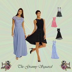 Fit and Flare Dress with High-Low Hemline & by TheGrannySquared