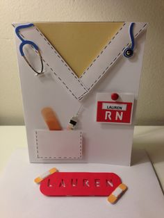 Nurse card w/ envelope...graduation, thank you or just because