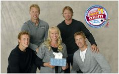 Jared, Jordan, Eric, and Marc Staal with their mom Linda