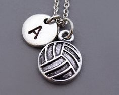 Volleyball necklace volleyball charm Volley Ball Volleyball | Etsy Volleyball Jerseys, Volleyball Outfits, Volleyball Drills, Volleyball Quotes, Coaching Volleyball, Volleyball Players, Basketball Cheers, Girls Basketball, Girls Softball