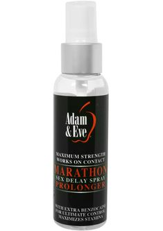 Buy Adam And Eve Marathon Sex Delay Spray Prolonger Maximum Strength 2 Ounce online cheap. SALE! $15.49