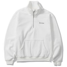 GROOVE RHYME 그루브라임 [GROOVE RHYME] 2016 HIGH NECK HALF ZIP-UP (WHITE) GZ001E43WH