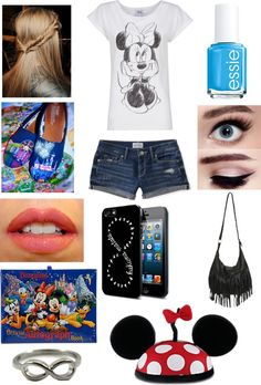 """Disneyland Trip Outfit"" by jennemartinez ❤ liked on Polyvore"