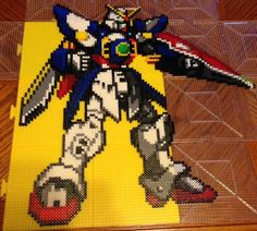 Gundam Wing: Wing Zero Endless Waltz Perler Bead Sprite by RatedEForEveryone