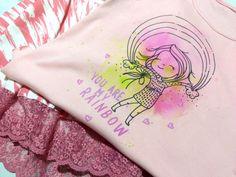 NIKIKO - TEXTILMALEN MIT MARKERN Marker, Watercolor Tattoo, Rainbow, Tattoos, Design, Light Table, Watercolor Background, Fabrics, Rain Bow
