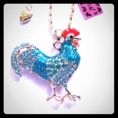 Selling this Betsey Johnson Swarovski Crystal Rooster Necklace in my Poshmark closet! My username is: cmccullough9. #shopmycloset #poshmark #fashion #shopping #style #forsale #Betsey Johnson #Jewelry