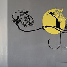 Cat Moonlight - and other things in here are very book based - wall paper and wall art
