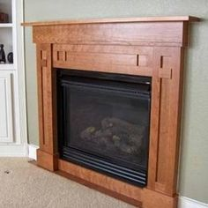 Arts and crafts fireplace mantel designs arts and crafts for Craftsman style fireplace mantel plans