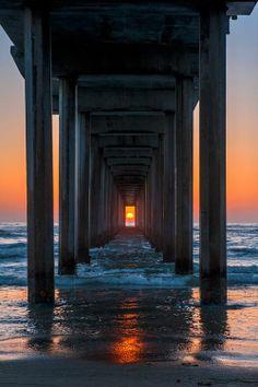 Scrips Pier sunset!  Lajolla, CA