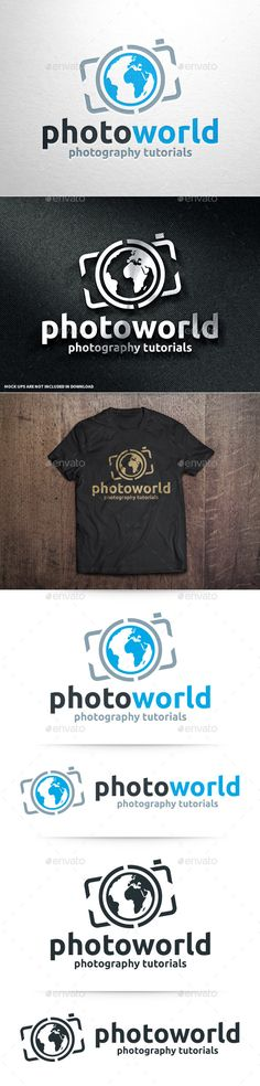Photo World Logo Template — Photoshop PSD #blog #blue • Available here → https://graphicriver.net/item/photo-world-logo-template/10961884?ref=pxcr