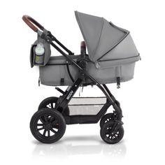 KinderKraft KKWMOOVGRY0000 Kinderwagen Kombikinderwagen 3 in 1 mit Buggy Babyschale, grau