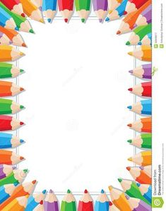 Clip Art Back To School Border Clip Art Colored Pencil Border Clip Art