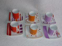 6 Tasses en porcelaine